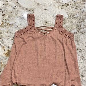 Maurices summer to size Large fits like a medium.